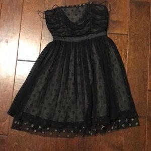 Tikirani Black Strapless Dress